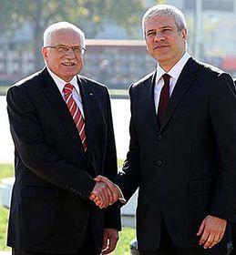 Václav Klaus y Boris Tadić