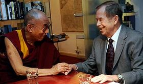 Le dalaï-lama avec Václav Havel, photo: CTK