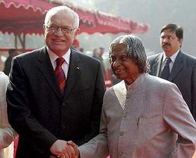Vaclav Klaus and the Indian President Abdul Kalam, photo: CTK