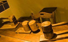 Dřevěné klapačky vMuzeu olomouckých tvarůžků, foto: Vít Pohanka