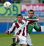 Miroslav Slepicka from Sparta Prague (left) and Petr Smisek from Jablonec, photo: CTK