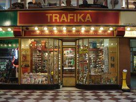 Табачный киоск в центре Праги, Фото: открытый источник