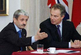 Prime Ministers Mikulas Dzurinda and Tony Blair, photo: CTK