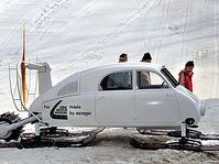 The new replica of the Tatra V 855 aero sledge, photo: CTK