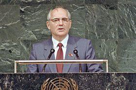 Mijaíl Gorbachov, foto: UN, Saw Lwin