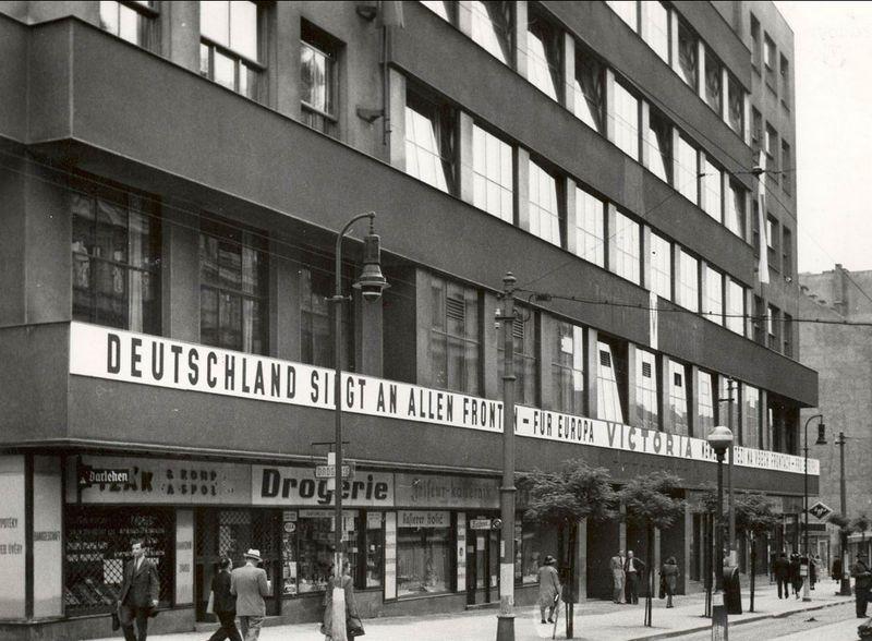 El edificio de la Radiodifusión Checoslovaca en Praga durante del período del llamado Protectorado de Bohemia y Moravia, foto: APF ČRo