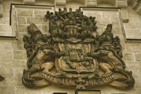 Coat of Arms of the Schwarzenbergs - owners of Hluboká for 300 years, photo: Vít Pohanka / Czech Radio