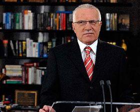 Prezident Václav Klaus během novoročního projevu, foto: ČTK