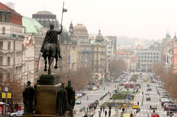 Wenceslas Square, Prague, photo: Štěpánka Budková
