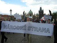 March against Sudeten Germans on Charles Bridge, photo: Jan Richter