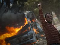 Un rebelle de Benghazi, Libye, photo: CTK
