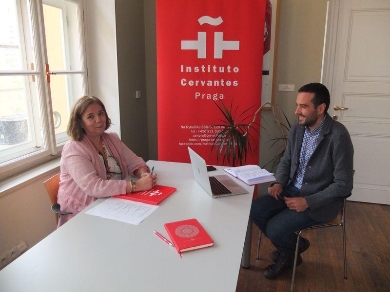 Luisa Fernanda Garrido y Francisco Javier López, foto: archivo Instituto Cervantes