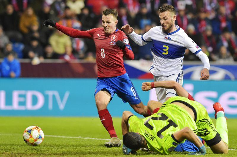 Z fotbalového zápasu Česka sKosovem, foto: ČTK / Miroslav Chaloupka