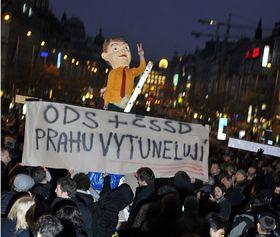 Manifestación en la Plaza Wenceslao, foto: ČTK