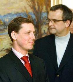 Stanislav Gross (a la izquierda) y Miroslav Kalousek  (Foto: CTK)