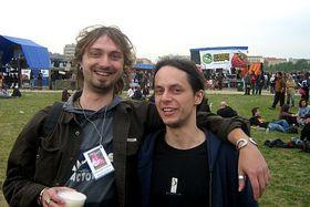 Event organizers: Marek Jehlicka, the cannabis ombudsman (left), and David Cermak, photo: Jan Richter