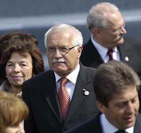 Václav Klaus en Moscú (Foto: CTK)