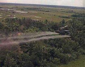 US helicopter sprays agent orange