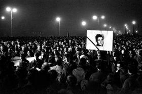 Une manifestation à la mémoire de Jan Palach (1969), photo: Jaroslav Kučera