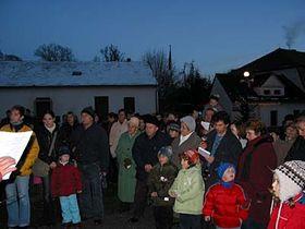 Oslavy adventu vPyšelích, foto: Milena Štráfeldová