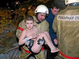 Tragedia en el aquaparque Traansval de Moscú, foto: CTK