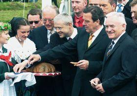 ¡Por fin! - Jefes de Gobierno de la República Checa, Polonia y Alemania (Foto: CTK)