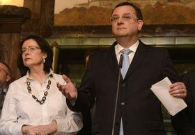 Miroslava Němcová et Petr Nečas, photo: CTK