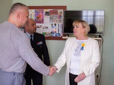 Miloš Zeman's wife Ivana meets Jiří Kajínek, photo: CTK
