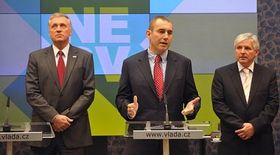 Mirek Topolánek, Martin Jahn, Jiří Rusnok, photo: CTK