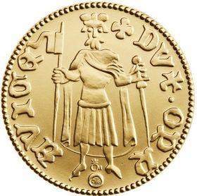 Replika dukátu Přemka Opavského, foto: Česká mincovna