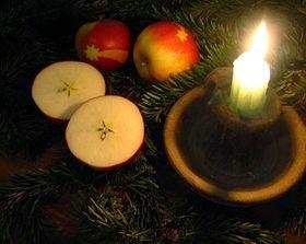 También se cortan en mitad las manzanas... Foto: Barbora Kmentová / Archivo de ČRo 7 - Radio Praga