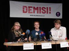 Veronika Vendlová, Mikuláš Minář und Benjamin Roll (Foto: ČTK / Ondřej Deml)