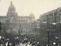 28. Oktober 1918 in Prag (Foto: Archiv des Nationalmuseums in Prag)