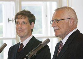 Станислав Гросс и президент Вацлав Клаус (Фото: ЧТК)