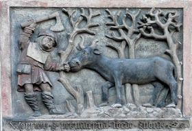 Der Köhler Věňava zog den Ochsen an dem Ring bis nach Brünn...