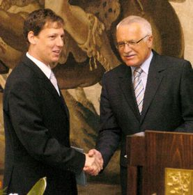 Stanislav Gross and Vaclav Klaus, photo: CTK
