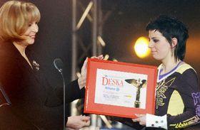 Aneta Langerova (a la derecha) Foto: CTK