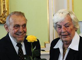 Erazim Kohák se svou manželkou Dorothy, foto: ČTK
