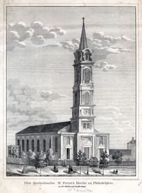 St. Peter the Apostle Church, Philadelphia, photo: Library Company of Philadelphia