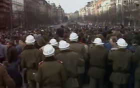 'Palach Week', Wenceslas square, January 1989, photo: Czech Television