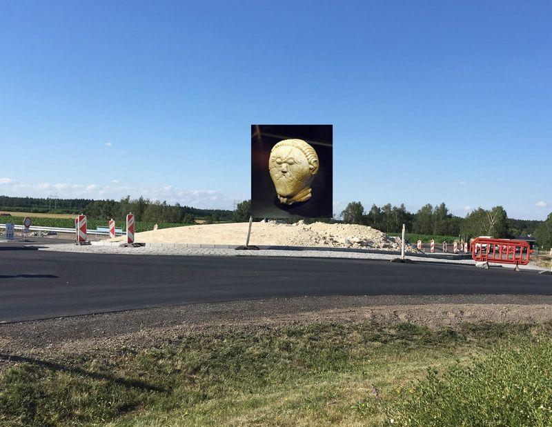 """Mесто будущего расположения копии """"кельта"""", фото: Ľ. Smatana, Чешское радио"""