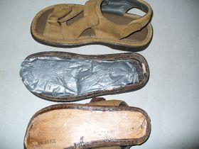 La droga escondida en los zapatosen los zapatos, foto: ČTK