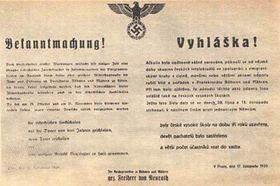 El 17 de noviembre, Hitler ordenó encerrar las escuelas superiores checas...
