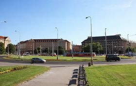 Площадь Победы в Праге-Дейвицах (Фото: Барбора Кментова, Чешское радио - Радио Прага)