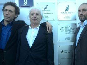 Иосиф Горбаневский, Виктор Файнберг и Ярослав Горбаневский (Фото: Мартин Карлик, Чешское радио)