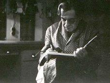 Портрет Райкина в эскизе Ондржея Сухого