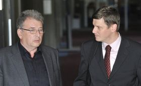 Miroslav Platil et Lubor Svoboda, directeur de la société d'investissement Natland, photo: CTK