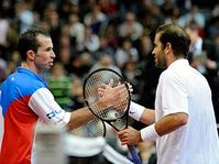 Radek Štepánek and Pete Sampras, photo: CTK