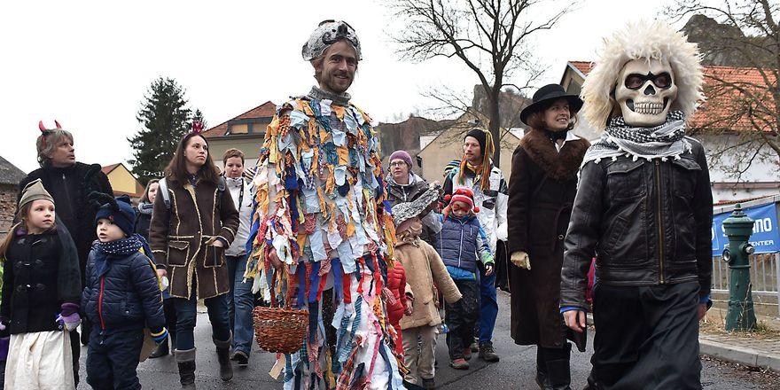 Masopustní obchůzka, foto: Filip Jandourek, archiv ČRo