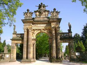 Brána kNovému hřbitovu, foto: Jirka23, CC BY-SA 3.0 Unported